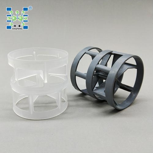 萍乡兴丰 厂家直销 现货供应PP聚丙烯100MM塑料鲍尔环填料/化工填料