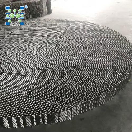 波纹板填料304孔板波纹填料 125Y金属规整填料用于精馏塔