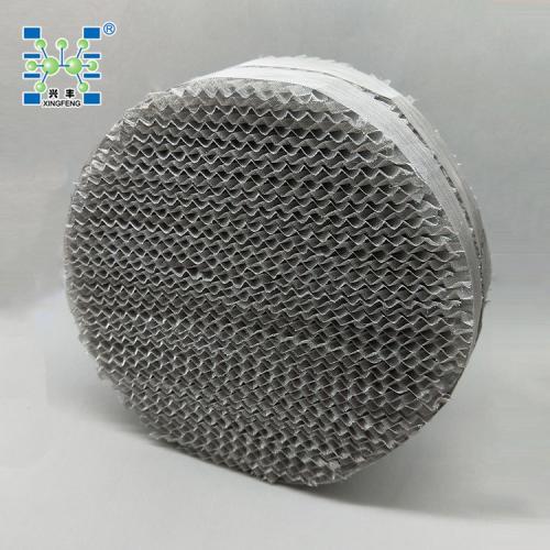 SS304金属丝网波纹填料(CY700型)0.12mm丝径